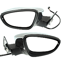Mirror - Driver and Passenger Side (Pair), Power, Heated, Folding, Chrome, With Turn Signal