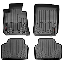 SET-W24441462 Black Floor Mats, Front and Second Row