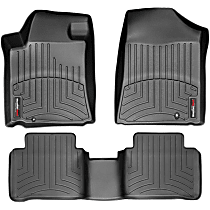 SET-W24441711 Black Floor Mats, Front and Second Row