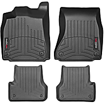SET-W24443742 Black Floor Mats, Front and Second Row