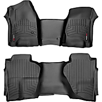 SET-W24445431 Black Floor Mats, Front and Second Row