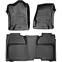 SET-W24446071 Black Floor Mats, Front and Second Row