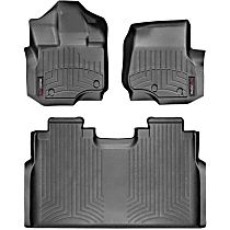 SET-W24446971 Black Floor Mats, Front and Second Row
