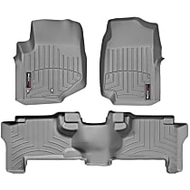 Gray Floor Mats, Front And Second Row