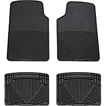 SET-W24W20 Black Floor Mats, Front And Second Row