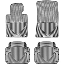 SET-W24W24GR Gray Floor Mats, Front And Second Row