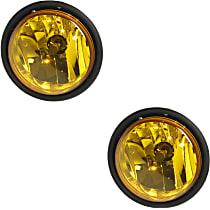 Fog Light Assembly - Driver and Passenger Side, Yellow Lens