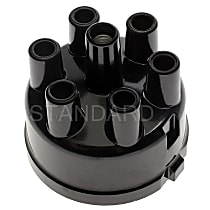 Standard AL-130 Distributor Cap - Black, Direct Fit, Sold individually