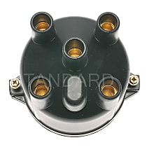 Standard CH-406 Distributor Cap - Black, Direct Fit, Sold individually