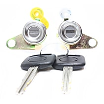 Door Lock - Silver, Direct Fit, Sold individually