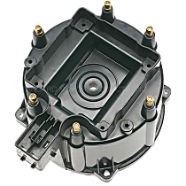 DR-462 Distributor Cap - Black, Direct Fit, Sold individually