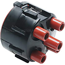 Distributor Cap - Black and Red, Direct Fit, Sold individually