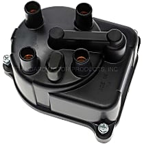 JH-157 Distributor Cap - Black, Direct Fit, Sold individually