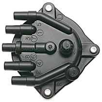 JH-197 Distributor Cap - Black, Direct Fit, Sold individually