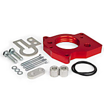 SL SL8021904147 Throttle Body Spacer - Anodized Red, Aluminum, Direct Fit, Sold individually