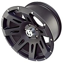 Powdercoated Black Satin Finish Wheel - 17 in. Wheel Diameter X 9 in. Wheel Width