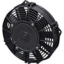 SPAL Low Profile 30100358 Electric Fan, Puller Type, 7.5 in. Fan Diameter, 7.95 in. W x 8.23 in. H x 2.01 in. D , Paddle Blade , 437 CFM, No Connector