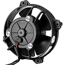 SPAL Low Profile 30103018 Electric Fan, Puller Type, 4 in. Fan Diameter, 4.29 in. W x 4.29 in. H x 1.89 in. D , Paddle Blade , 147 CFM, With Connector