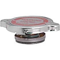 10208 Radiator Cap - Round, 4 lbs., Polished, Steel, Sold individually