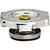 10229 Radiator Cap - Round, 13 lbs., Polished, Steel, Sold individually