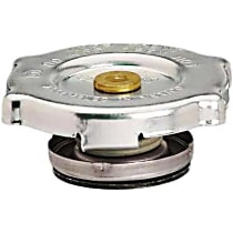 10230 Radiator Cap - Round, 16 lbs., Polished, Steel, Sold individually
