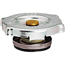 10231 Radiator Cap - Round, 16 lbs., Polished, Steel, Sold individually