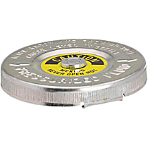 Radiator Cap - Round, 16 lbs., Polished, Steel, Sold individually