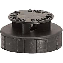 Radiator Cap - Round, Black, Plastic, Sold individually