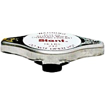 Radiator Cap - Round, 13 lbs., Polished, Steel, Sold individually
