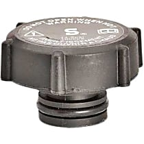 Radiator Cap - Round, 15 lbs., Black, Plastic, Sold individually