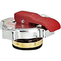 10327 Radiator Cap - Round, 13 lbs., Polished, Steel, Sold individually