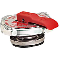 Radiator Cap - Round, 12-16 lbs., Polished, Steel, Sold individually