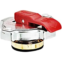 10333 Radiator Cap - Round, 16 lbs., Polished, Steel, Sold individually