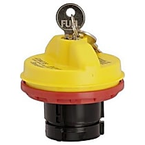 10502Y Gas Cap - Yellow, Locking, Direct Fit, Sold individually