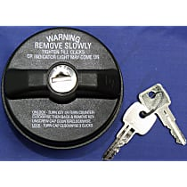 10510 Gas Cap - Black, Locking, Direct Fit, Sold individually