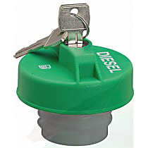 17591D Gas Cap - Green, Locking, Direct Fit, Sold individually