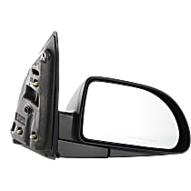 Mirror Manual Folding - Passenger Side, Power Glass, Textured Black
