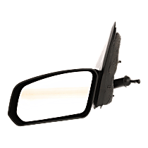 Mirror - Driver Side, Manual Remote, Textured Black, For Sedan