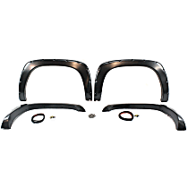 Front and Rear, Driver and Passenger Side Fender Flares, Gray
