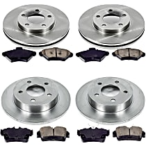 00OEREP13 SureStop OE Replacement Front And Rear Brake Disc and Pad Kit, 4-Wheel Set