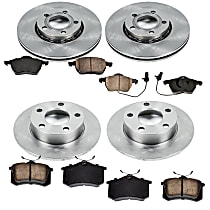 00OEREP28 SureStop OE Replacement Front And Rear Brake Disc and Pad Kit, 4-Wheel Set