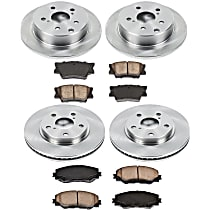 00OEREP41 SureStop OE Replacement Front And Rear Brake Disc and Pad Kit, 4-Wheel Set