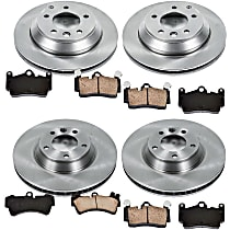 00OEREP45 SureStop OE Replacement Front And Rear Brake Disc and Pad Kit, 4-Wheel Set
