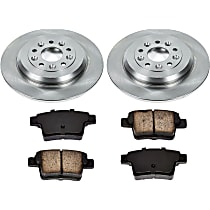SureStop Rear Replacement Brake Disc and Pad Kit - 2-Wheel Set, Incl. 12.99 in. Replacement Rotors