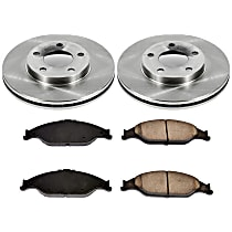 SureStop Front Replacement Brake Disc and Pad Kit - 2-Wheel Set, Incl. 11.06 in. Replacement Rotors