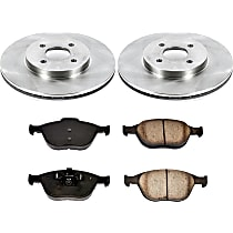 01OEREP51 SureStop OE Replacement Front Brake Disc and Pad Kit, 2-Wheel Set