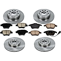 01OEREP58 SureStop OE Replacement Front And Rear Brake Disc and Pad Kit, 4-Wheel Set