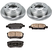 For 2007 2008 2009-2012 Outlander Front And Rear Brake Rotors Metallic Pads