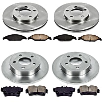 02OEREP13 SureStop OE Replacement Front And Rear Brake Disc and Pad Kit, 4-Wheel Set