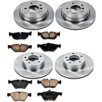 02OEREP41 SureStop OE Replacement Front And Rear Brake Disc and Pad Kit, 4-Wheel Set